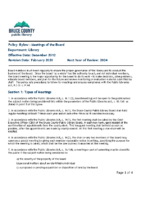 Bylaw – Meetings of the Board