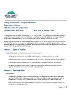 Governance – Policy Development
