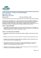 Operational – The Library and Political Elections
