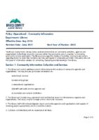 Operational – Community Information