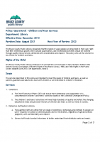 Operational – Children and Teen Services